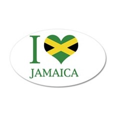 I Love Jamaica 20x12 Oval Wall Peel
