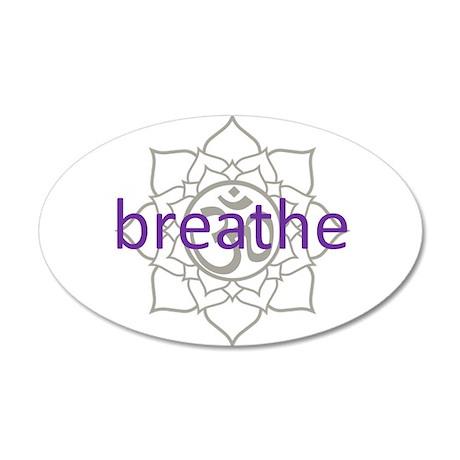 breathe Om Lotus Blossom 35x21 Oval Wall Peel