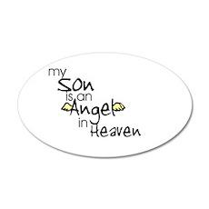 My son is an Angel 20x12 Oval Wall Peel