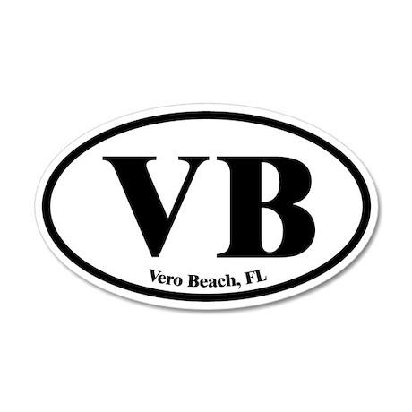 Vero Beach VB Euro Oval 20x12 Oval Wall Peel