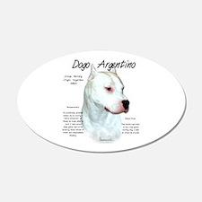 Dogo Argentino 20x12 Oval Wall Peel