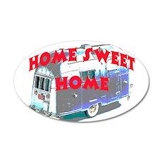 HOME SWEET HOME #2 20x12 Oval Wall Peel