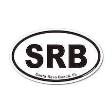 Santa Rosa Beach SRB Euro 20x12 Oval Wall Peel