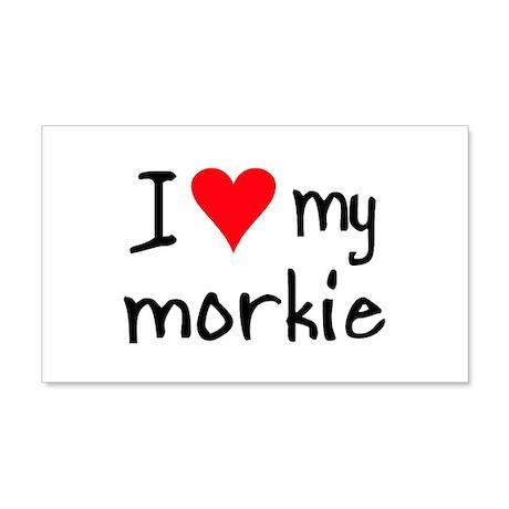 I LOVE MY Morkie 20x12 Wall Peel