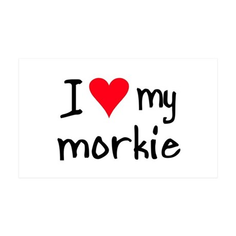 I LOVE MY Morkie 35x21 Wall Peel