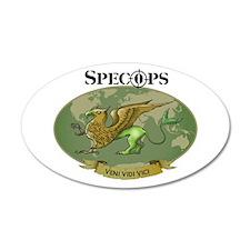 SPECOPS Logo 35x21 Oval Wall Peel