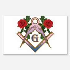Roses for the Lady Rectangle Decal