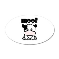 Moo? Cow 35x21 Oval Wall Peel