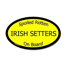 Spoiled Irish Setters On Board 20x12 Oval Wall Pee