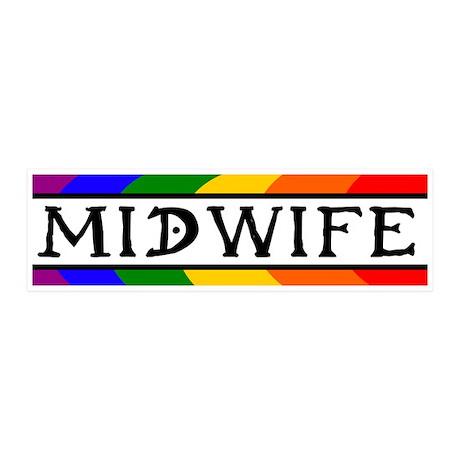 Rainbow Midwife 20x6 Wall Peel