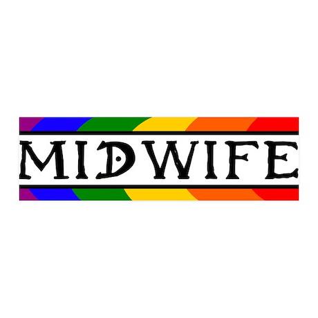 Rainbow Midwife 36x11 Wall Peel