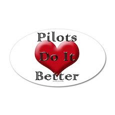 Pilots do it better 20x12 Oval Wall Peel