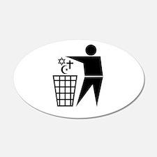 Trash Religion 20x12 Oval Wall Peel