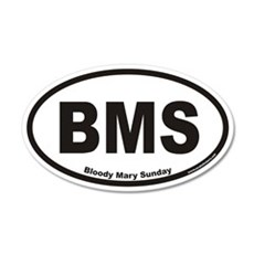 Bloody Mary Sunday BMS Euro 35x21 Oval Wall Peel