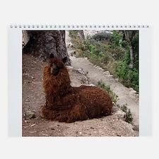 Llamas and More Wall Calendar