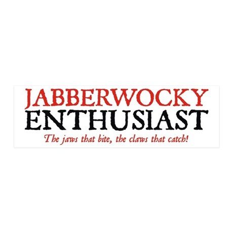 Jabberwocky Enthusiast 20x6 Wall Peel