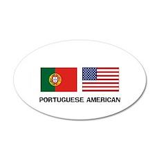 Portuguese American 20x12 Oval Wall Peel
