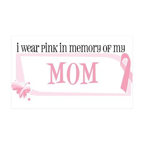 I wear pink in memory of my m Sticker (Rectangular