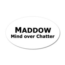 Maddow_Mind over Chatter 20x12 Oval Wall Peel