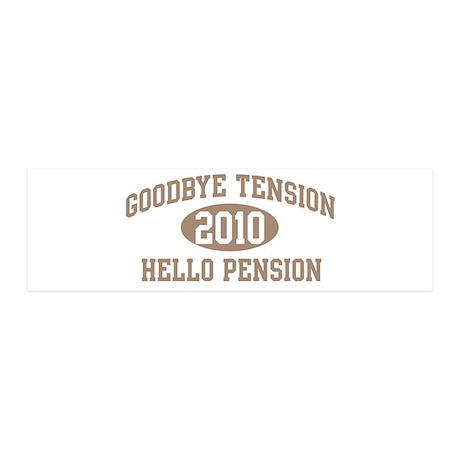 Hello Pension 2010 36x11 Wall Peel