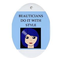 beautician Ornament (Oval)