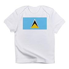 St. Lucia Flag Creeper Infant T-Shirt