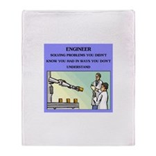 funny engineering joke Throw Blanket