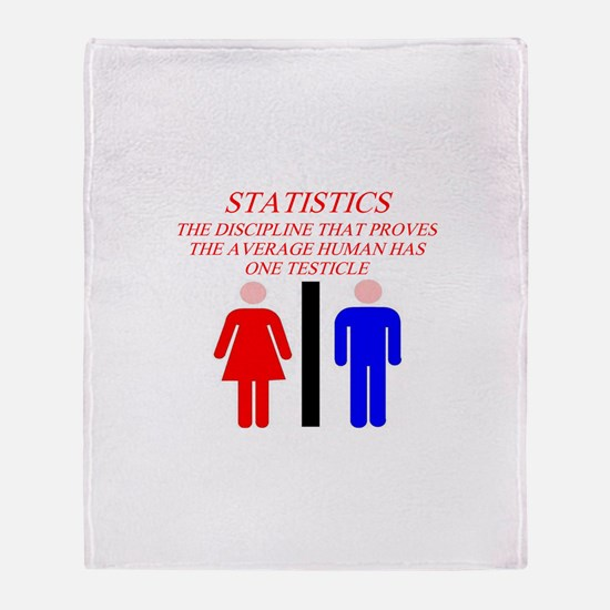 funny math statistics Throw Blanket