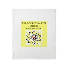 antimatter physics Throw Blanket
