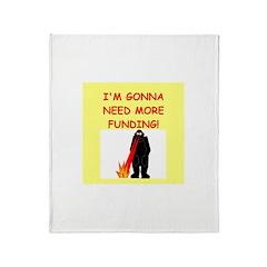 funny biology joke Throw Blanket