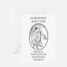 Euripides' Bacchae Greeting Card