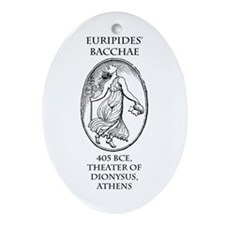 Euripides' Bacchae Ornament (Oval)