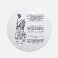 Hippocratic Oath Ornament (Round)