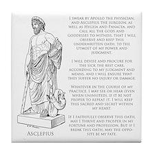 Hippocratic Oath Tile Coaster