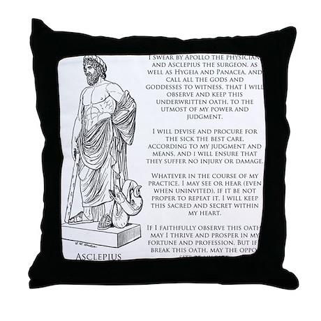 Hippocratic Oath Throw Pillow