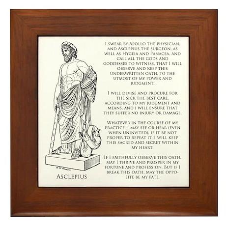 Hippocratic Oath Framed Tile