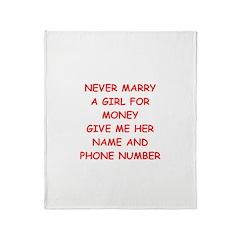 funny joke for men Throw Blanket