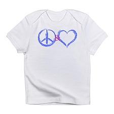 BabyBlue Peace & Heart Creeper Infant T-Shirt