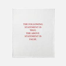 philosopher philosophy Throw Blanket