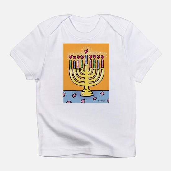 happy hanukkah creeper Infant T-Shirt