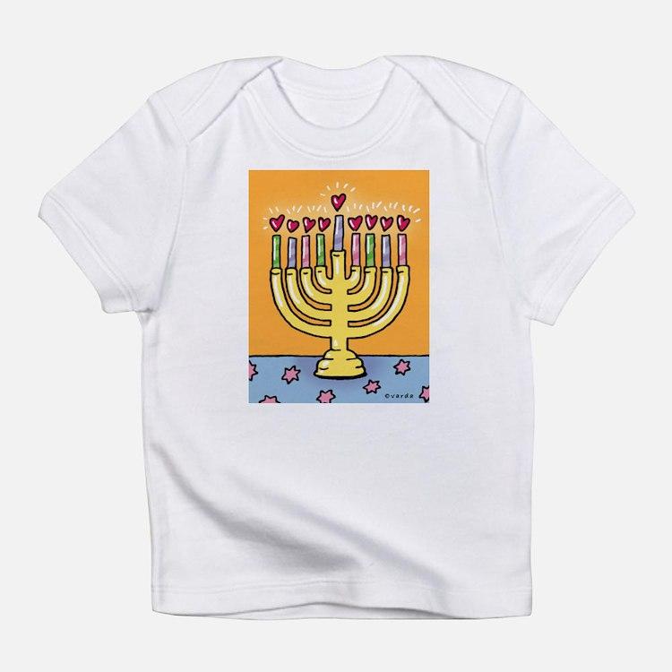 happy hanukkah creeper Infant T-Shirt