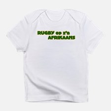 South African Rugby Afrikaans Creeper Infant T-Shi