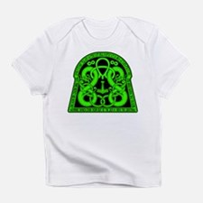 """Lime """"May Thorr Protect You"""" Creeper Infant T-Shir"""