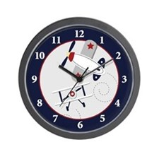 Airplane Aviator Wall Clock