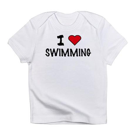 I LOVE SWIMMING Creeper Infant T-Shirt