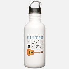 Cute Acoustic guitar Water Bottle