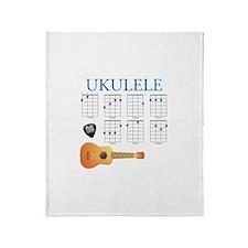 Cute Ukulele Throw Blanket