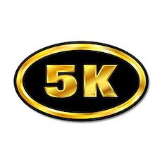 5 K Runner Sticker Gold & Black (Oval)