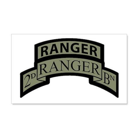 2nd Ranger Bn Scroll/Tab ACU 20x12 Wall Peel
