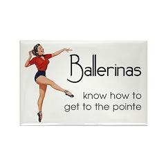 Funny Ballerina Rectangle Magnet